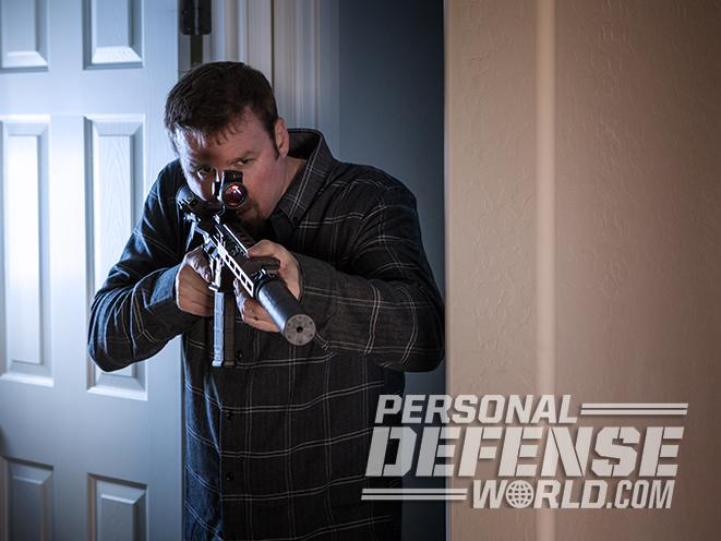 home defense carbine hallway