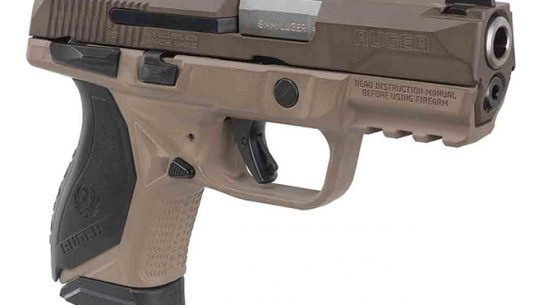 Davidson's Ruger American Compact pistol fde