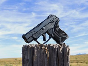 Ruger LCP II pistol RIGHT ANGLE