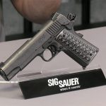 Sig Sauer 1911 We The People pistol angle