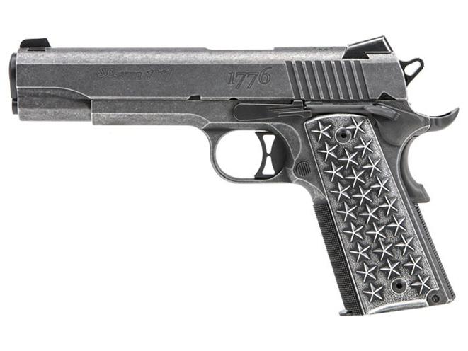 Sig Sauer 1911 We The People pistol left profile