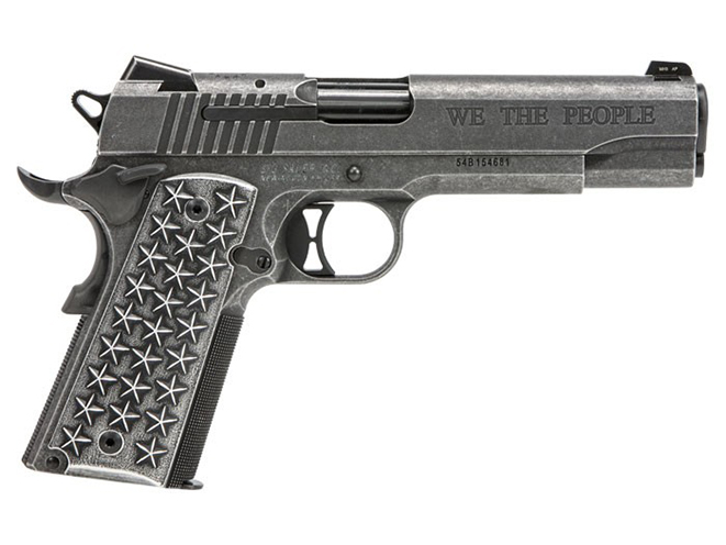 Sig Sauer 1911 We The People pistol right profile