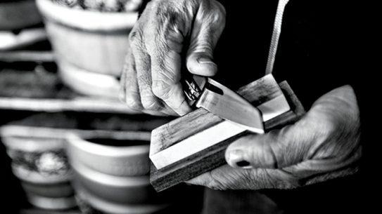 Gerber Sharkbelly knife sharpening