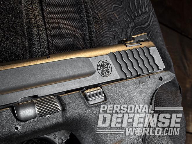 Smith & Wesson M&P45 Threaded Barrel Kit rear serrations