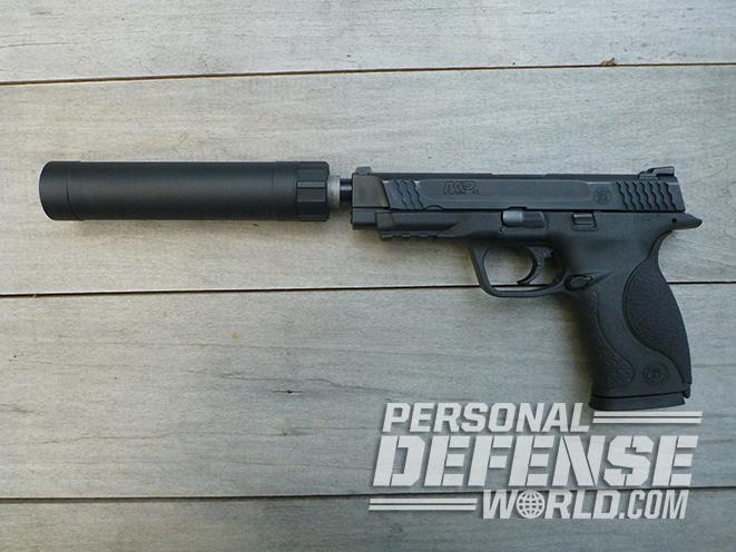 Smith & Wesson M&P45 Threaded Barrel Kit suppressor attached