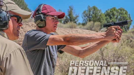 nighthawk browning hi-power gunsite 250 pistol firing