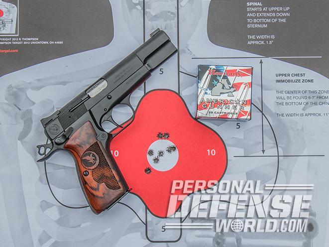 nighthawk browning hi-power gunsite 250 pistol target
