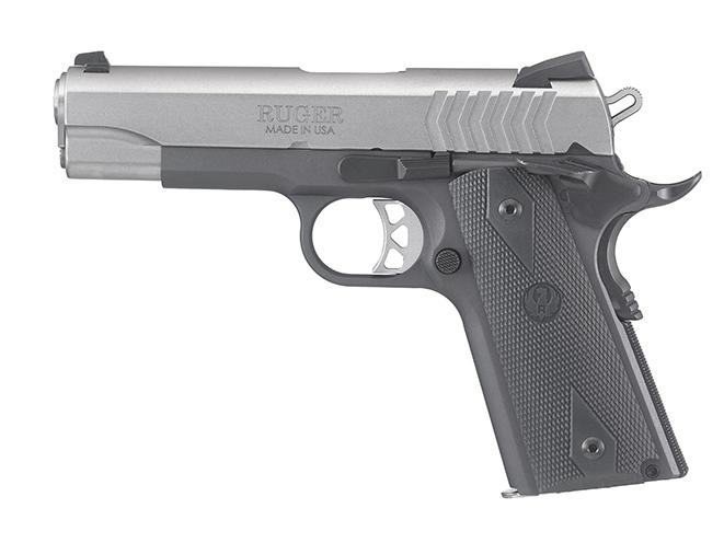 Ruger SR1911 Lightweight Commander 9mm pistol left profile