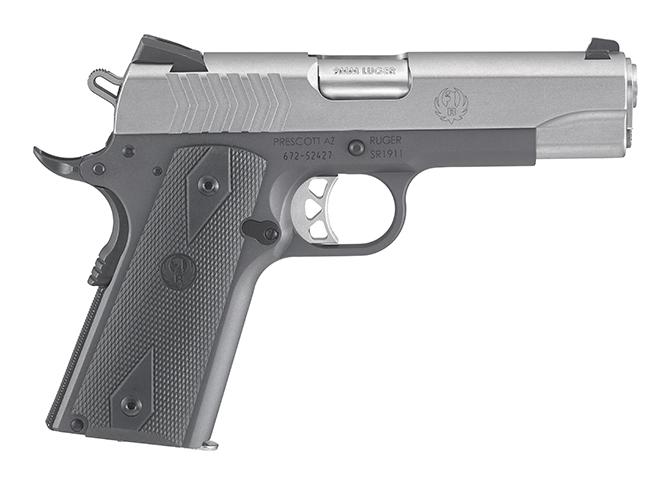 Ruger SR1911 Lightweight Commander 9mm pistol right profile