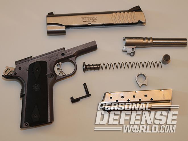 Ruger SR1911 Lightweight Commander 9mm pistol takedown