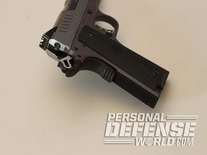 Ruger SR1911 Lightweight Commander 9mm pistol rear sight