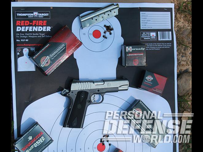 Ruger SR1911 Lightweight Commander 9mm pistol target