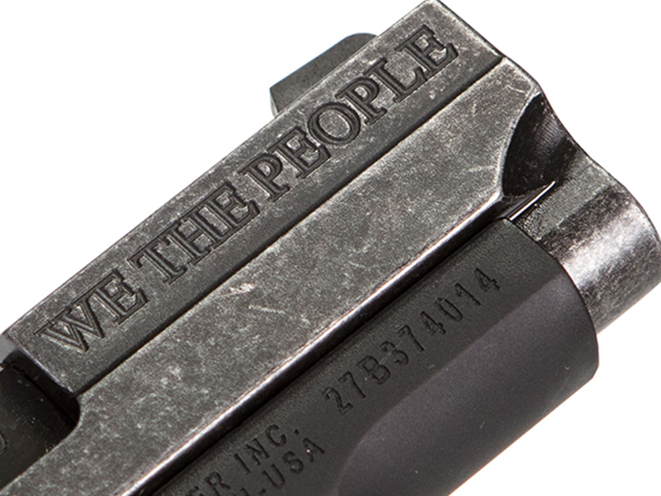 Sig Sauer P238 We The People pistol engraving