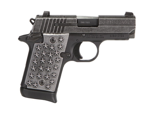 Sig Sauer P938 We The People pistol right profile