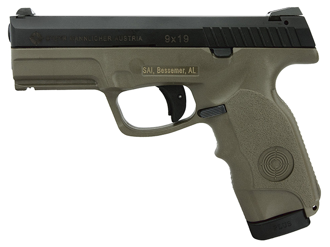 Steyr M9-A1 OD Green pistol left profile