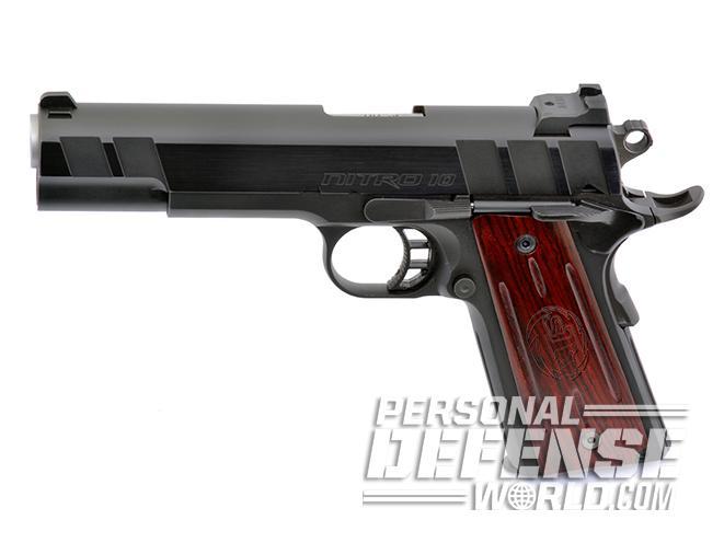 STI Nitro 10mm pistol left profile