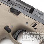 CZ P-10 C FDE pistol mag and slide release