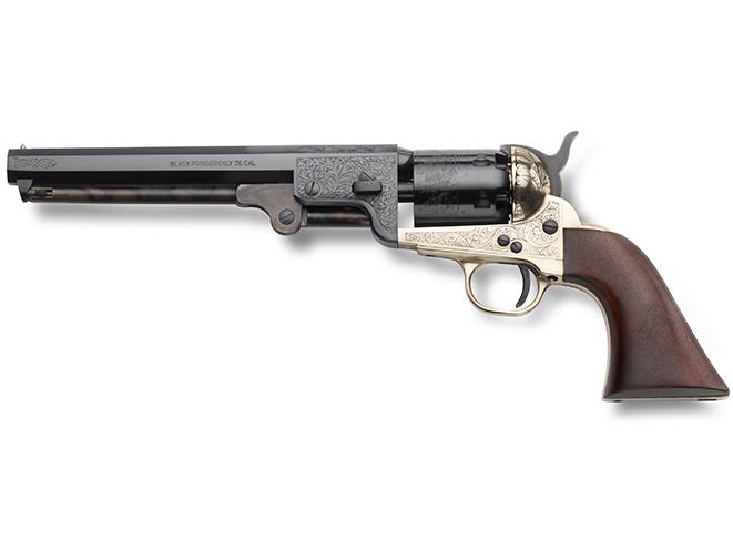 EMF 1851 Navy Deluxe Brass Engraved black powder guns