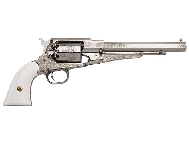 EMF 1858 Deluxe Texas Nickel Engraved black powder guns