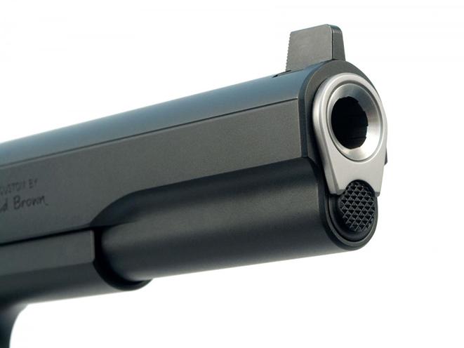 Ed Brown LS10 pistol muzzle
