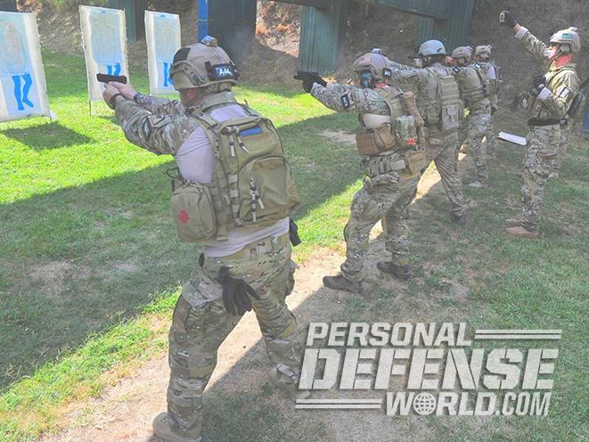 Glock 17 pistol military use