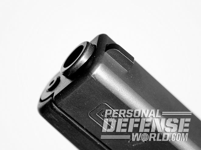 Glock 17 pistol muzzle