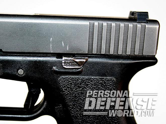 Glock 17 pistol rear slide