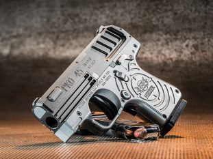 Heizer Defense PKO-45 pistol left angle