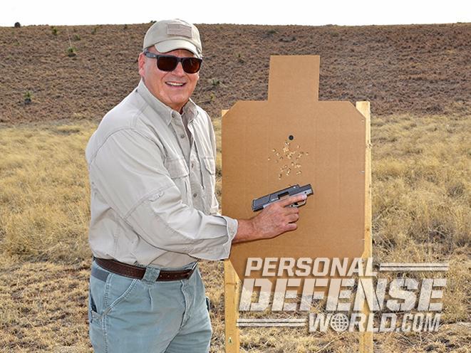 Heizer Defense PKO-45 pistol target