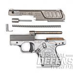 Heizer Defense PKO-45 pistol disassembled