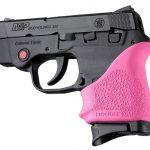 pink Hogue HandALL beavertail grip for s&w bodyguard 380