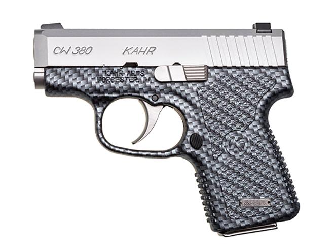 Kahr cw380 black carbon fiber pistol