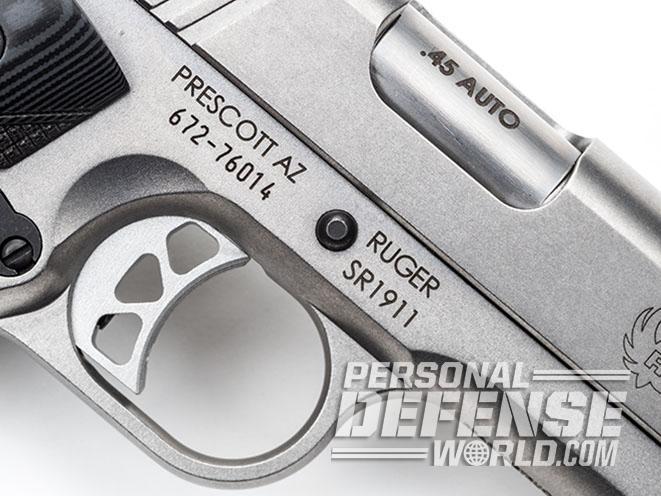 Ruger SR1911 Target pistol trigger