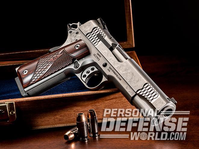 S&W Engraved 1911 handgun