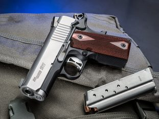 Sig 1911 Two-Tone Ultra Compact pistol left angle