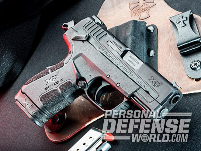 Springfield XD-E pistol right angle