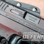 Springfield XD-E pistol ejection port