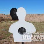 LV Steel Targets silhouette shoulder