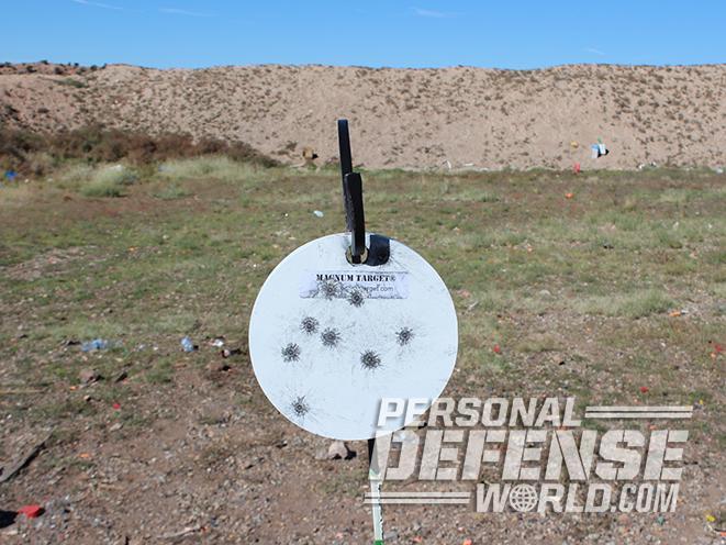 magnum target steel targets grouping