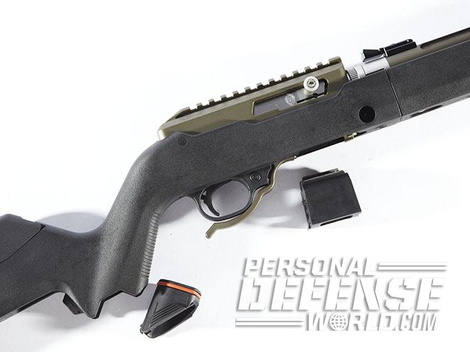Tactical Solutions X-Ring Takedown rifle magazine release