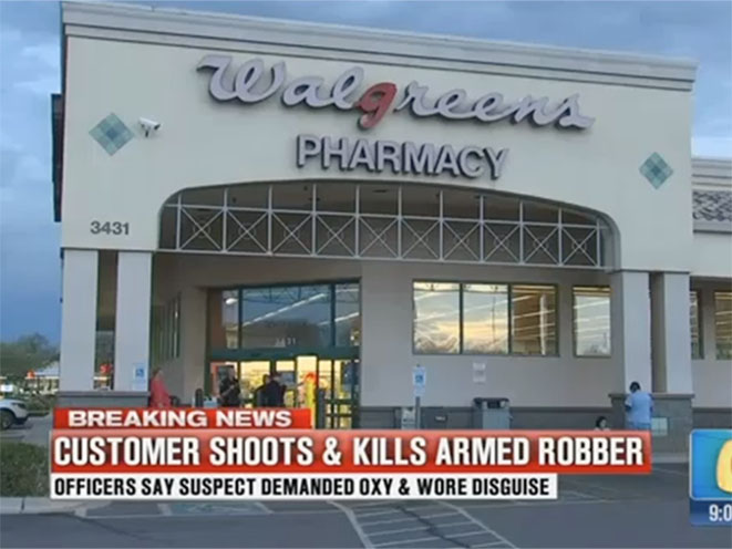 walgreens robbery armed customer
