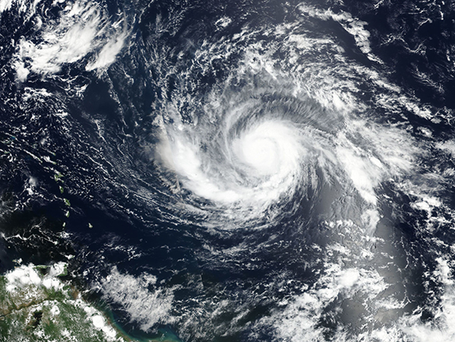 hurricane irma satellite photo