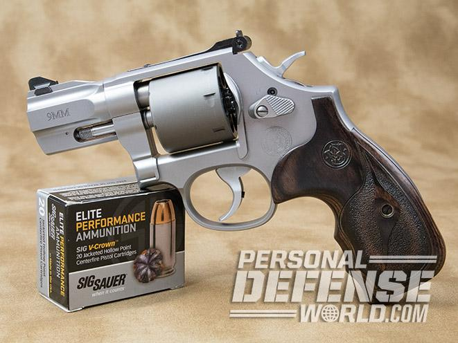 Smith & Wesson Performance Center Model 986 revolver with ammo