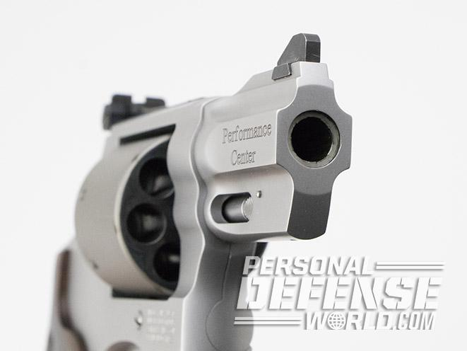 Smith & Wesson Performance Center Model 986 revolver muzzle