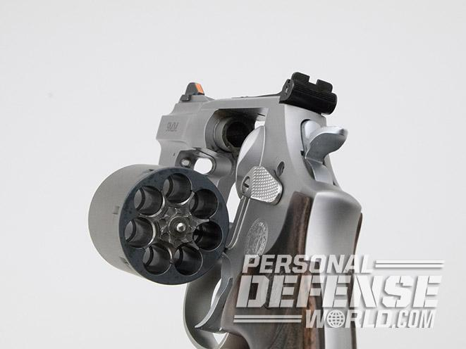 Smith & Wesson Performance Center Model 986 revolver cylinder