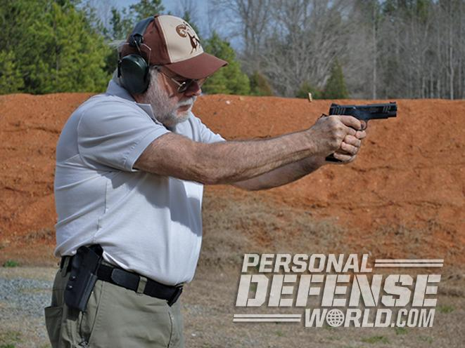 Tommy Guns USA Commander .357 SIG 1911 handgun shooting