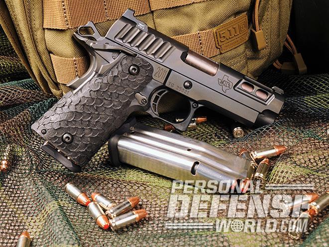 STI DVC Carry pistol left profile slide