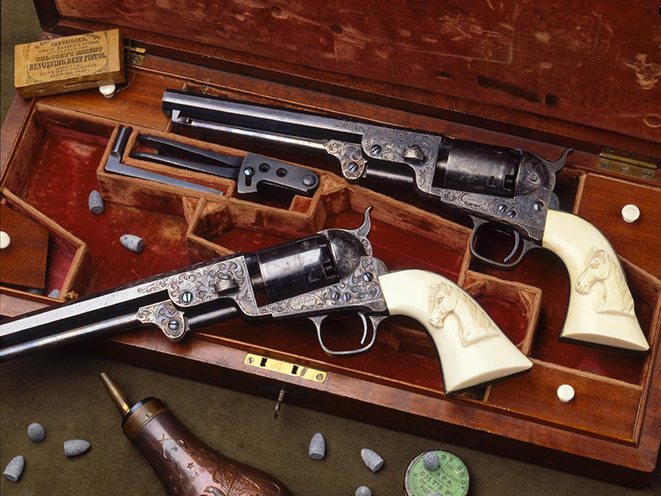 Samuel Colt's Model 1851 old west revolvers