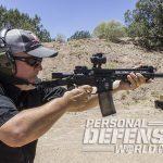 Troy P7A1 pistol firing