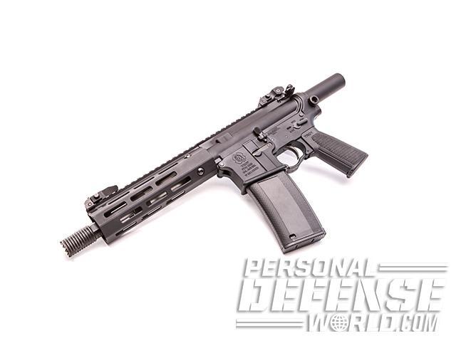 Troy P7A1 pistol left angle